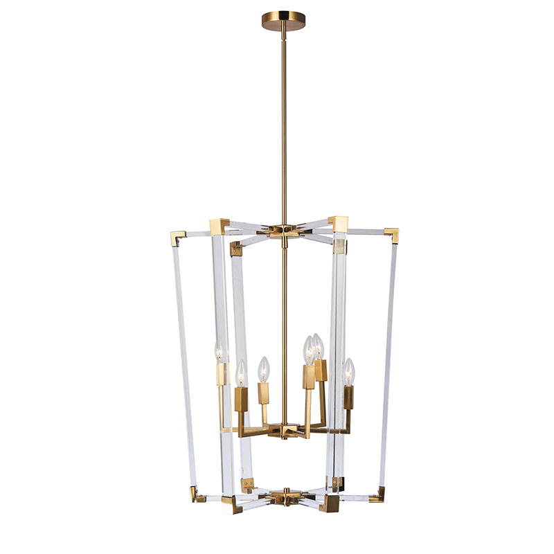 aluminum chandelier: Nordic Industry Vintage Loft Style Simple Art Acrylic Pendant Lamp To Decorate The Cafe Or Bar NC144C-6AL-GLD