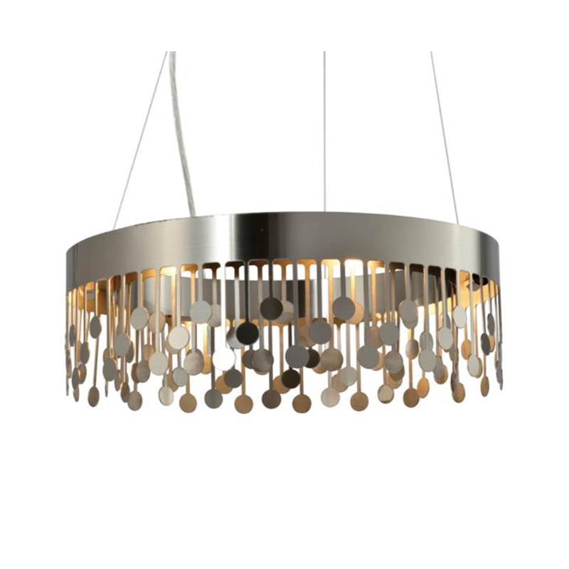 Modern Simple High Quality Round Sand Nickel Chandelier NC9105P-6A